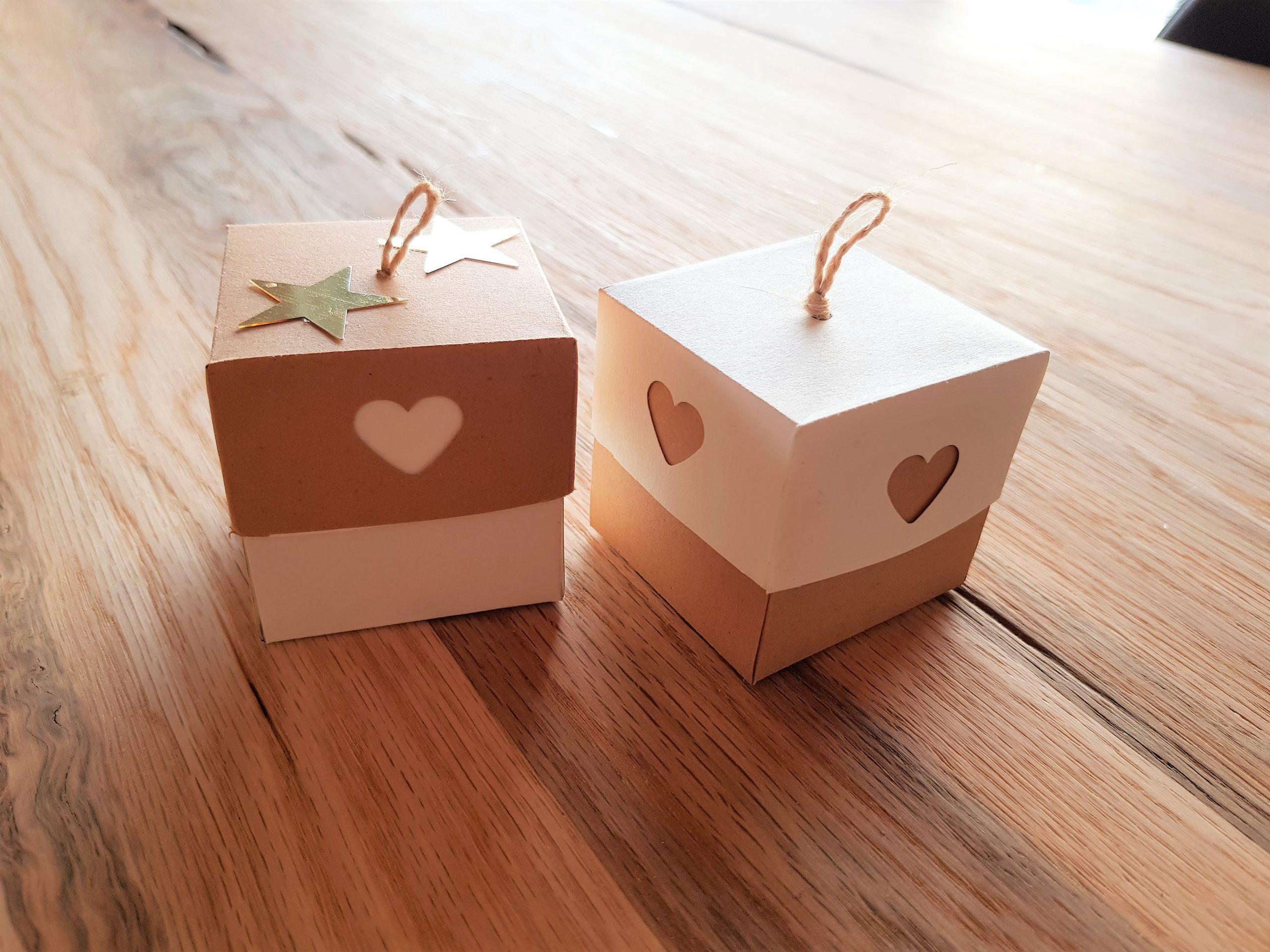 Gutschein- oder Geschenkboxen aus Papier