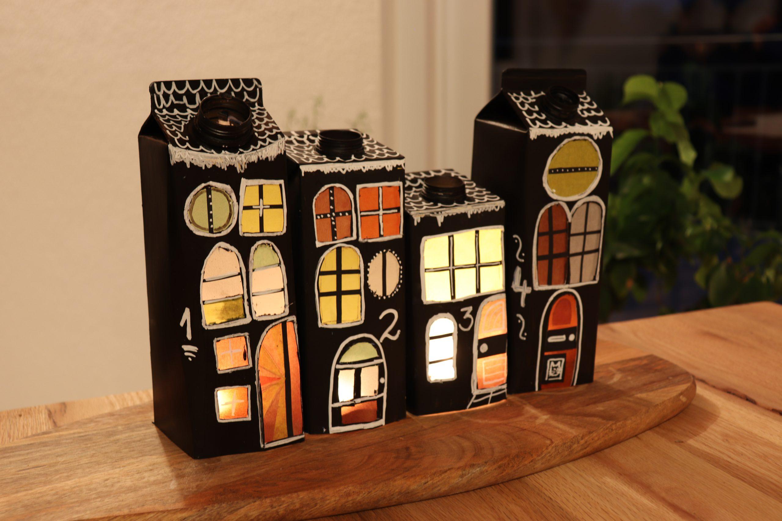 DIY Upcycling Adventskranz aus Milchtüten