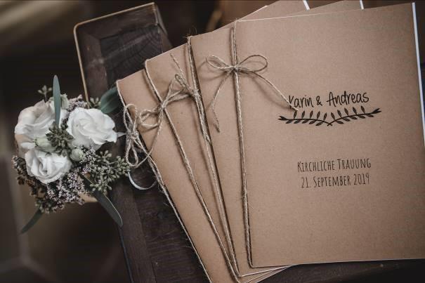 DIY Kirchenhefte zur Hochzeit